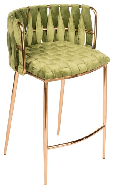 Milano Counter Chair in Green