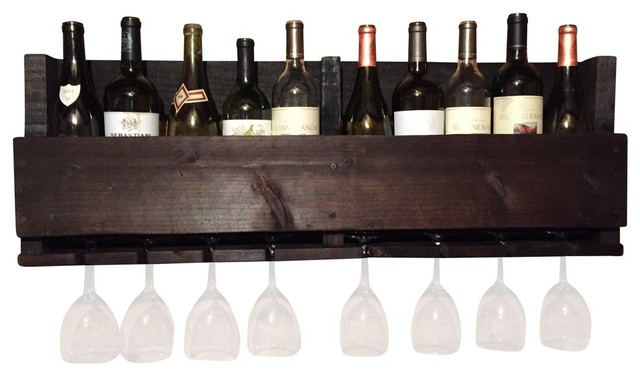 Reclaimed Wood Wine Rack, Provincial.
