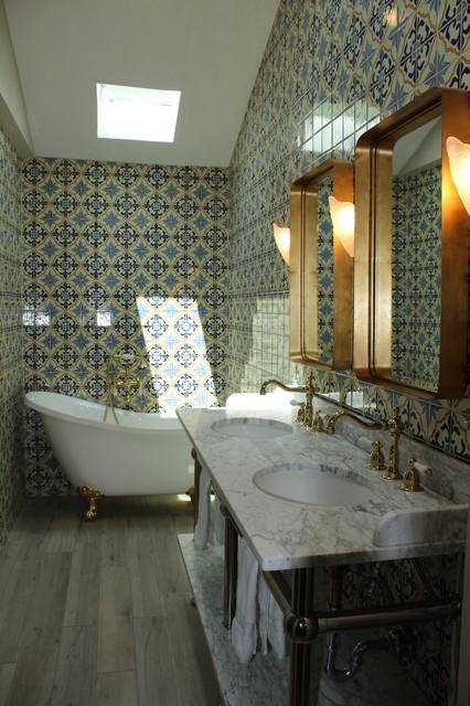 Inspiration for a mediterranean home design remodel in Dallas