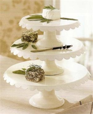 Enamel Cake Stands traditional serveware