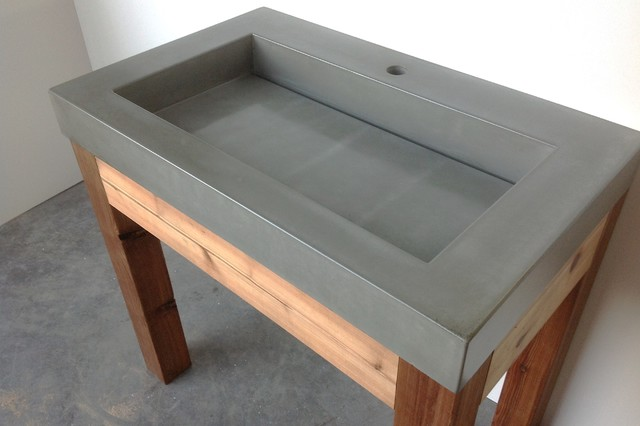 sink design from the urban loft line of concrete sinks. Concrete Sink  24u0026quot Ada Floating Cado Concrete Bathroom