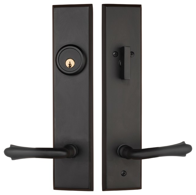 Door Knob Entry Lock Oil Rubbed Bronze Wiltshire Series Single Cylinder Handle