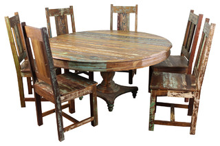 Shop Houzz Meva Trinidad 7 Piece Dining Set Dining Sets