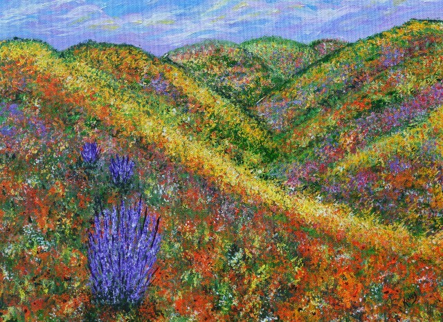 """Dreaming of Spring"""", Original by Kathy Symonds, Art - Contemporary - Paintings - by Vango Art ..."""