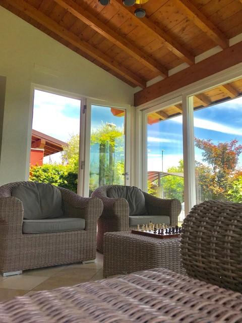 Foto di una veranda contemporanea