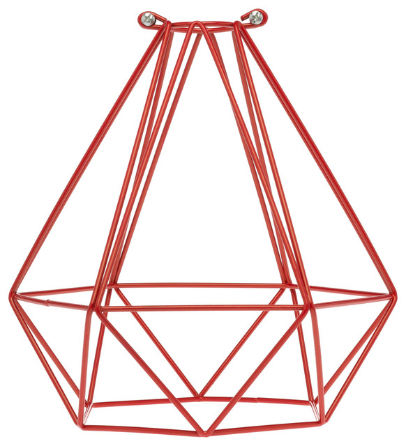 Geometric Bulb Cage Red