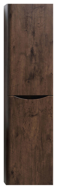 Eviva Smile 16 Inch Rosewood Wall Mount Side Cabinet.