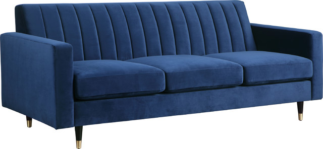 Awe Inspiring Lola Sofa Navy Velvet Caraccident5 Cool Chair Designs And Ideas Caraccident5Info