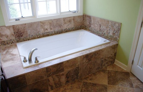 Drop in tub what is the size of the tub deck Drop in bathtub dimensions