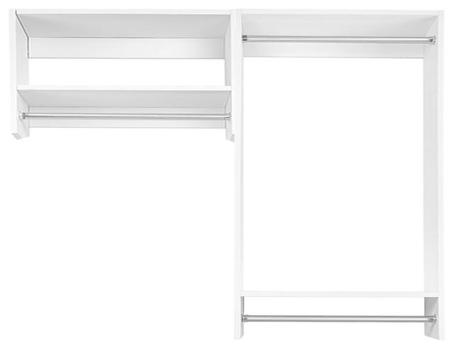 6&x27; Bi-Level Hanging Modular Closet Organizer, Driftwood Gray.