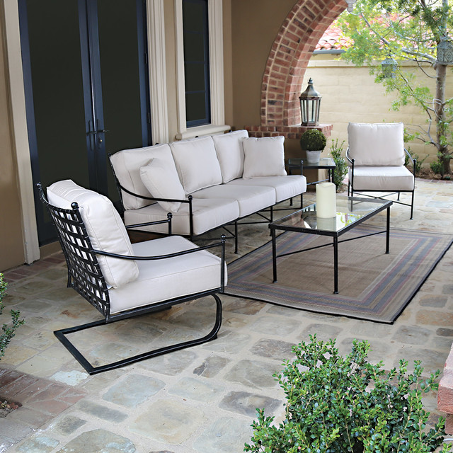 Black Metal Outdoor Furniture traditional - Black Metal Outdoor Furniture - Traditional - Seattle - By Thos. Baker
