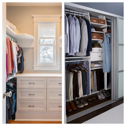 Do you have a walk in or a reach in closet in your master - Houzz master bedroom walk in closets ...