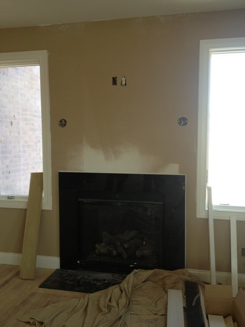Fireplace without mantle?