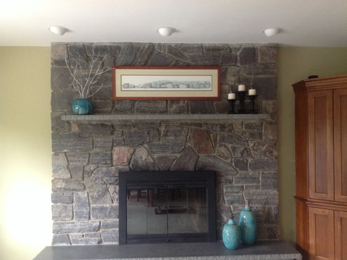 Installing Crown Molding Around Stone Fireplace
