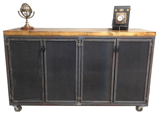 the iron age credenza industrial buffets and sideboards by iron age office. Black Bedroom Furniture Sets. Home Design Ideas