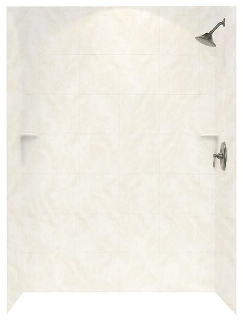 Swan 36x62x72 Solid Surface Shower Wall Surround, Cloud White