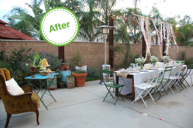 Houzz Holiday Contest A Pretty Backyard Dinner Partyeclectic Los Angeles