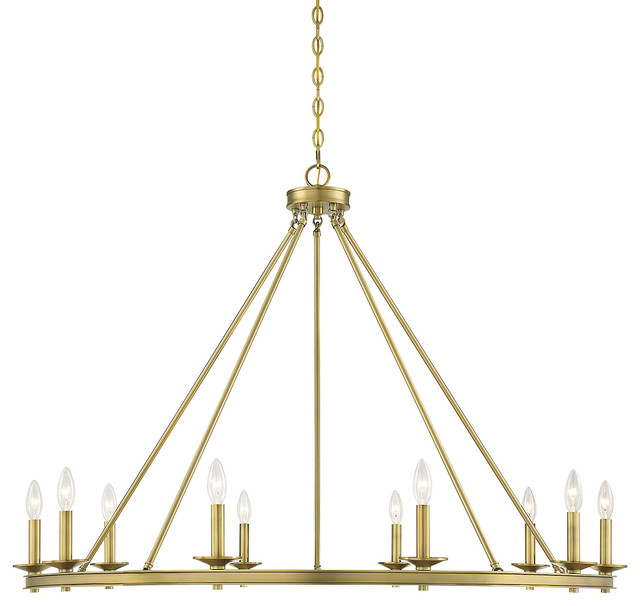 Middleton 10-Light Chandelier, Warm Brass