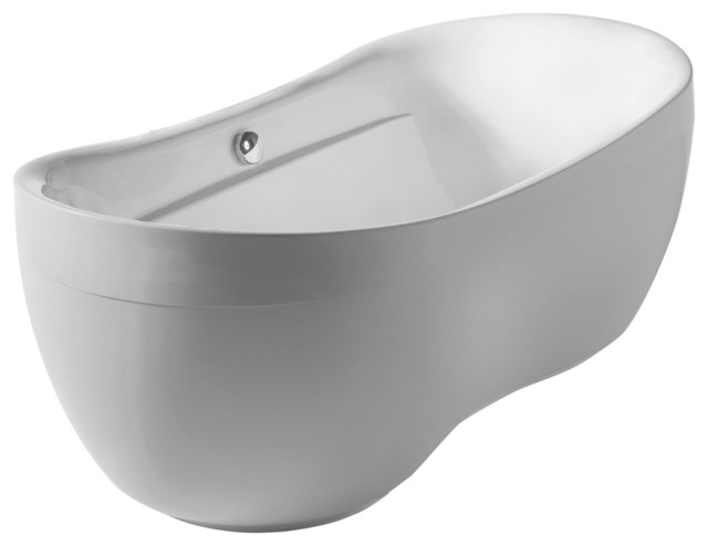 Oval Double Ended Freestanding Bathtub.
