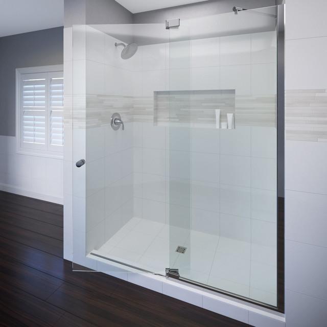 "Cantour Shower Door, Fits 48.06-54"", AquaGlideXP Clear Glass, Chrome"