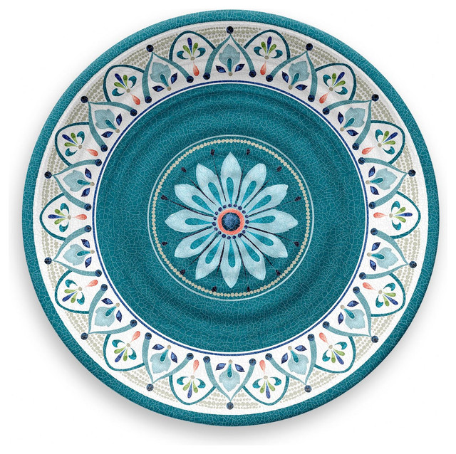 Moroccan Medallion Dinner Plate Set of 12  sc 1 st  Houzz : set of 12 dinner plates - pezcame.com