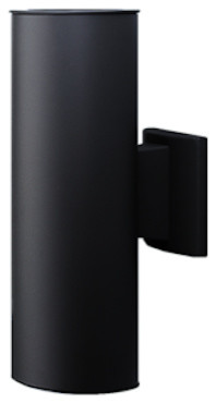Nicor Outdoor Cylinder Wall Sconce Light In Bronze.