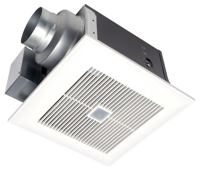 Whispersense 110 cfm ceiling humidity and motion sensing for 7 bathroom exhaust fan
