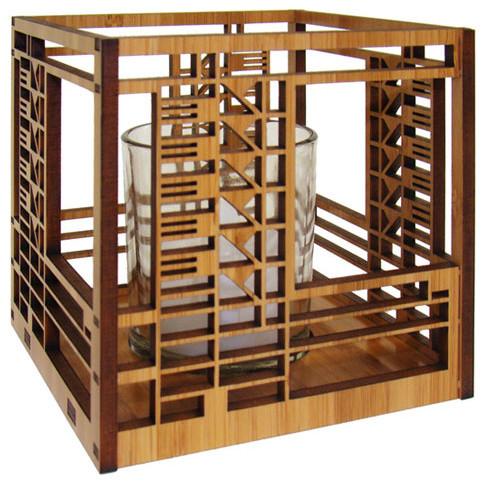 Frank Lloyd Wright Bach House Design Hardwood Votive