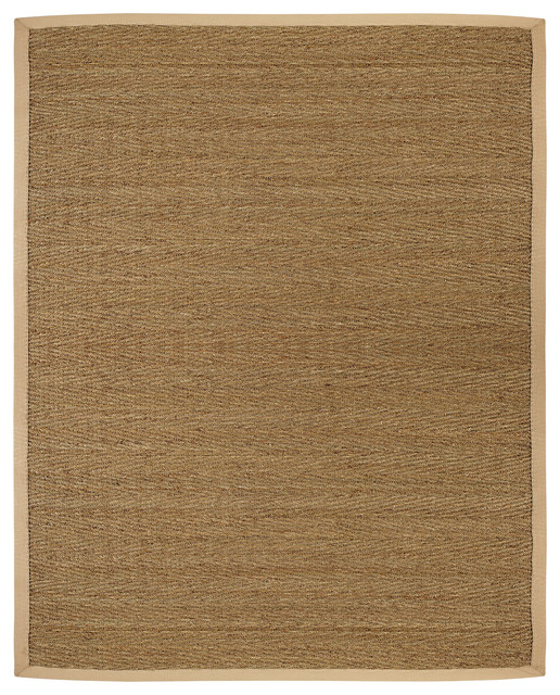 Anji Mountain Saddleback Seagrass Rug Tropical Area