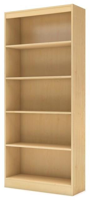South Shore Axess 5-Shelf Bookcase, Natural Maple