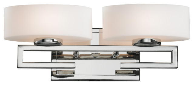 Cetynia Collection 2 Light Vanity Light in Chrome Finish