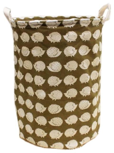 New British Style Foldable Large Laundry Basket, Hamper Storage, Hedgehog.