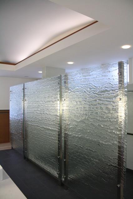 Cast Glass Bathroom Partition   Contemporary   Providence ...