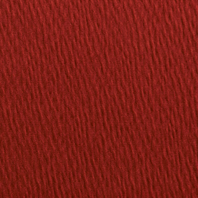 Brick Red Solid Ripple Texture Look Upholstery Fabric By The Yard