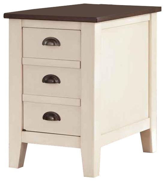 Whitesburg Chairside End Table, White