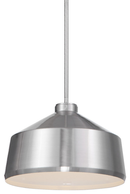 Modern Minimalist Brushed Metal Dome Pendant 1 Light Simple Industrial Silver Contemporary Pendant Lighting By My Swanky Home