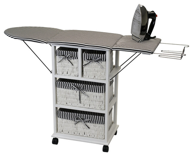 "Portable Ironing Board Center 29"" Tall."