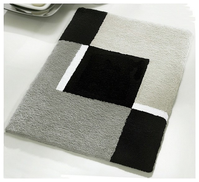 Vita Futura Small Bath Rug Modern Anti Skid Bathroom Rug