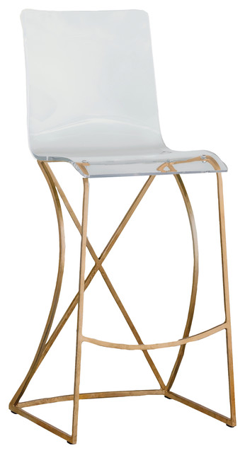 Gabby Johnson Acrylic Bar Stool Contemporary Bar Stools And