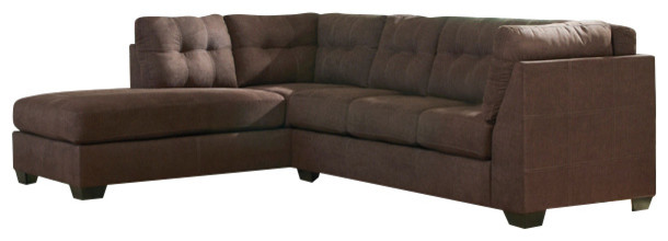 Surprising Benchcraft Maier Sectional With Left Side Facing Chaise Microfiber Walnut Squirreltailoven Fun Painted Chair Ideas Images Squirreltailovenorg