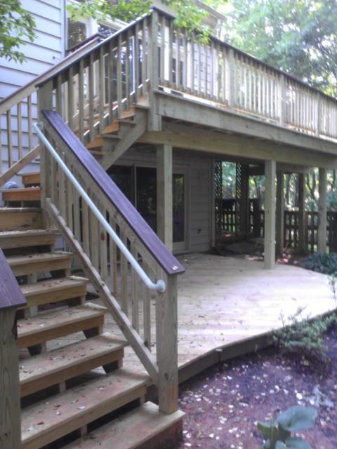 Rockville custom wood Deck