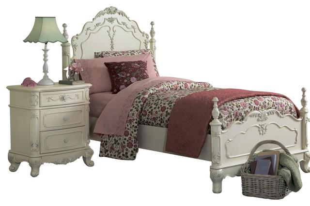 Homelegance Cinderella 3-Piece Kids' Poster Bedroom Set, White