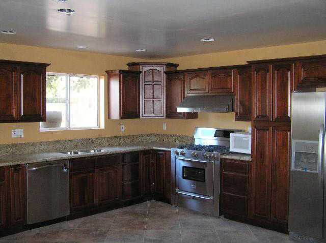 cherry walnut kitchen cabinets home design traditional columbus