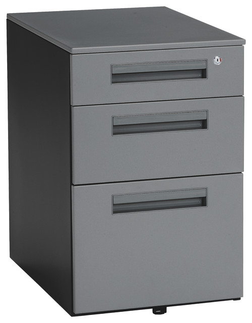 Mesa 3-Drawer File Cabinet - Contemporary - Filing Cabinets - by OFM