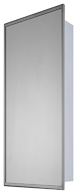 "Deluxe Series Medicine Cabinet, 16""x36"", Bright Annealed Stainless Steel Frame"