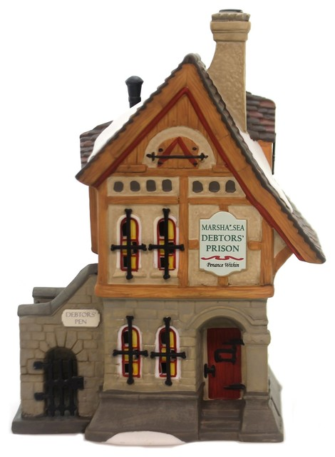 Department 56 House Marshalsea Debtors&x27; Prison Dickens&x27; Village Series 6000586.