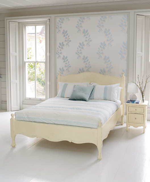 Laura Ashley Melcombe Wallpaper Eclectic Bedroom Houston - Laura ashley bedroom