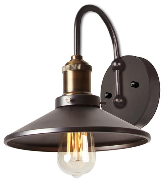 1 Light Wall Lamp Vintage Steel
