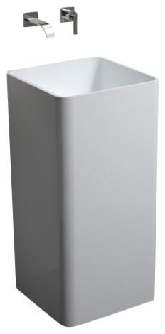 Badeloft Stone Resin Freestanding Sink, Matte.