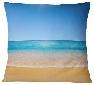 Dark View Of Tropical Beach Seashore Photo Throw Pillow Beach Style Decorative Pillows By Design Art Usa